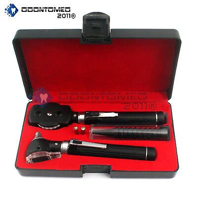 Fiber Optic Otoscope Ophthalmoscope Examination Led Diagnostic Ent Set Nt-930