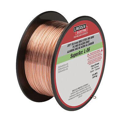Lincoln Superarc L-56 Prem Copper-coated Mig Welding Wire 2lb Spool 0.035in Dia
