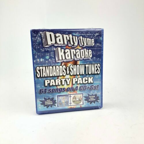 Party Tyme Karaoke SYB-4424 Standards and Show Tunes CD Party Pack Sealed