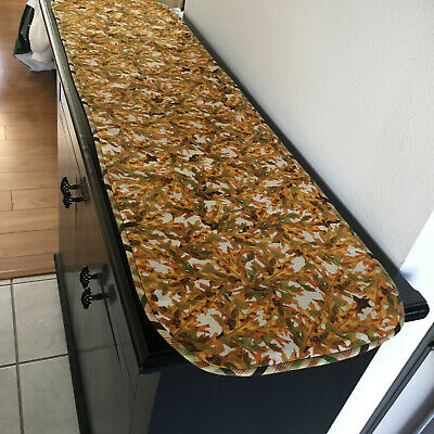 Autumn Leaves Table Runner, Fall Foliage décor', Reversible Harvest Thanksgiving