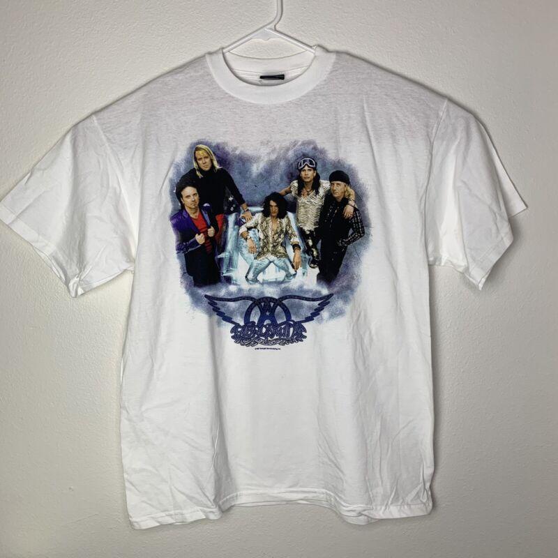 Aerosmith Adult Giant Graphic T-Shirt White Logo 1997 Vintage XL New