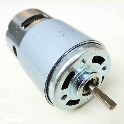 12v Dc Motor 4000rpm Oblate D Style Axle Generator Diy High Torque Bearing