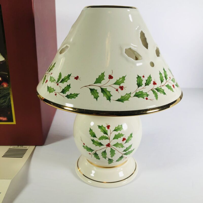 Lenox Holiday Tealight Lamp New In Box With Warranty Card