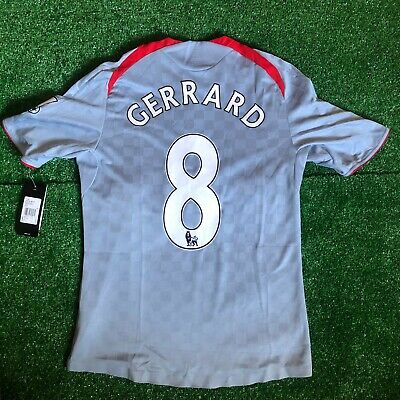 ADIDAS LIVERPOOL FC AWAY 2008-09 JERSEY SHIRT PLAYER ISSUE FORMOTION GERRARD M 09 Away Jersey