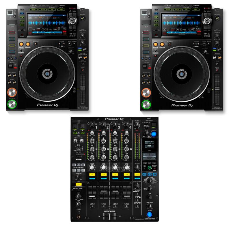 Brand New Pioneer Nexus 2 DJ Set 2 CDJ 2000 NXS2 Players 1 DJM 900 NXS2 Mixer