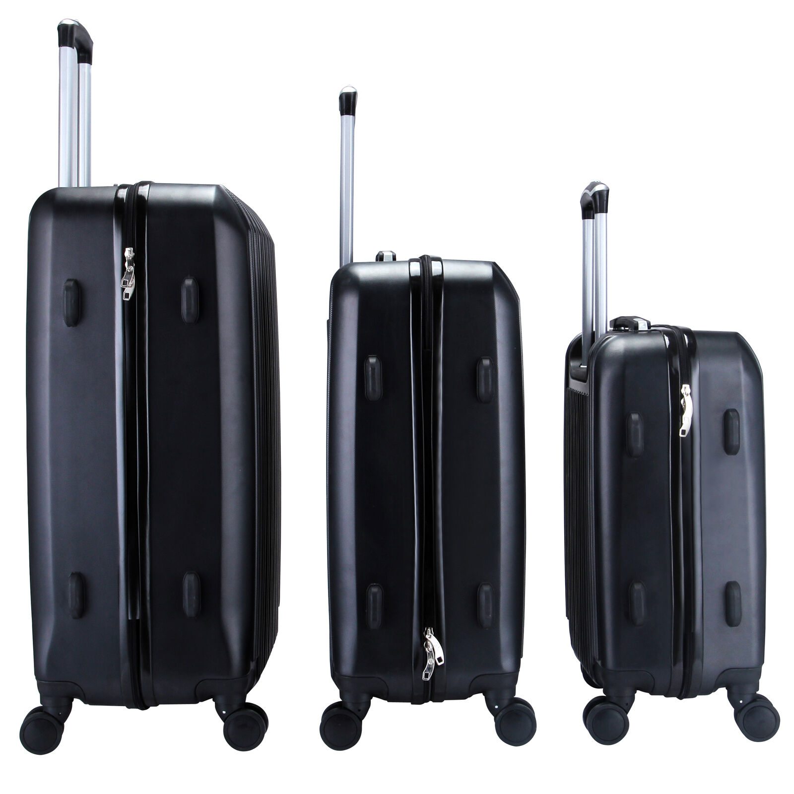 3Pcs Luggage Travel Set Bag ABS Trolley Spinner Suitcase Expandable w/TSA Lock