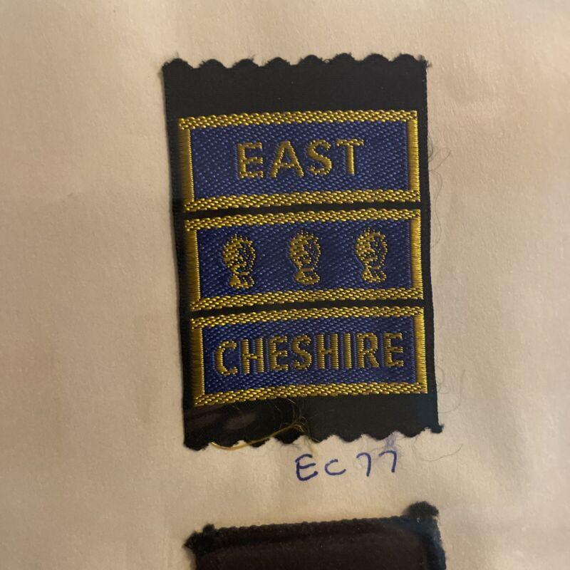 SCOUTS OF BRITISH / UNITED KINGDOM - UK EAST CHESHIRE COUNTY BADGE EC 77