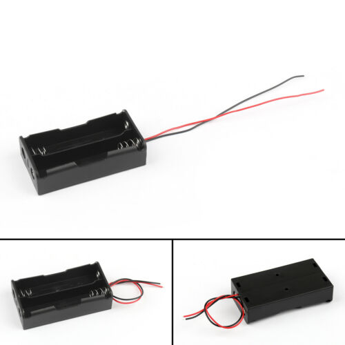 1Pcs 2 Cell 18650 Series Battery Holder Storage Case With Wire Leads 7.4V US