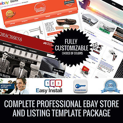ebay store and listing template complete package! Unique design