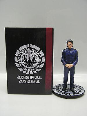 "Battlestar Galactica Admiral Adama Animated Maquette- 5.9"" Hero Sized-QMX"