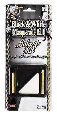 BLACK & WHITE MAKEUP KIT PALETTE w/2 STICKS HALLOWEEN COSTUME - Halloween Black And White Makeup