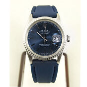 Mens Rolex Datejust Blue Dial