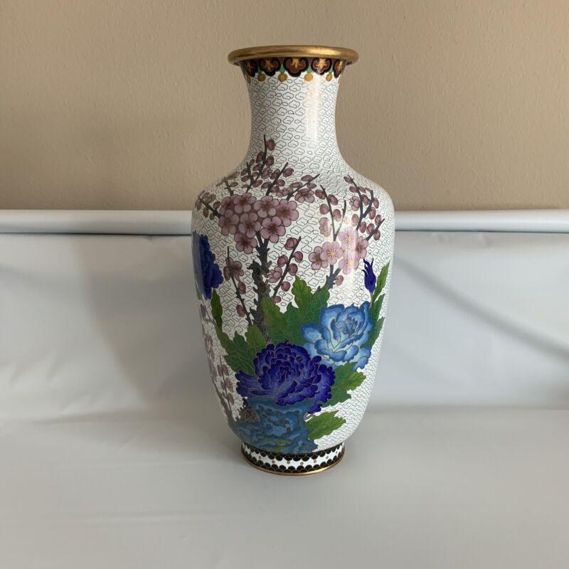 Chinese Cloisonne Large Vase 15''