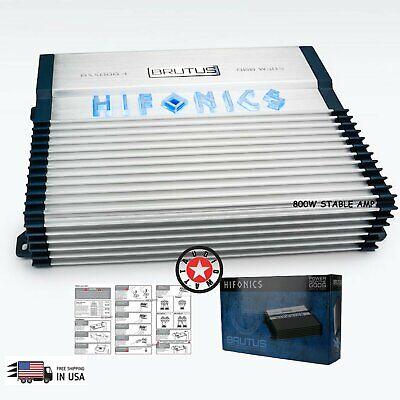 Hifonics BXX800.4 Brutus 800W RMS A/B 4 Channel Speaker Car Audio Amplifier