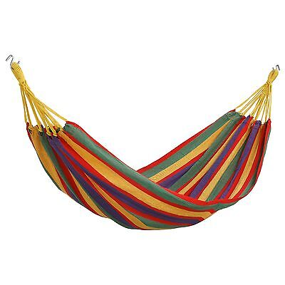VonHaus 1 Person Brazilian Style Hammock Swing with Carry Case