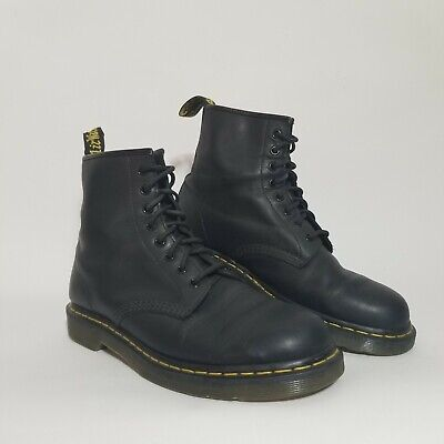 Men's Shoes Dr. Martens 1460 8 Eye Leather Boots BLACK SMOOTH Size 10US preowned