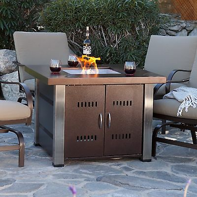 Outdoor Fire Pit Table Propane Gas Patio Heater Fireplace Backyard Furniture Outdoor Propane Patio Heater