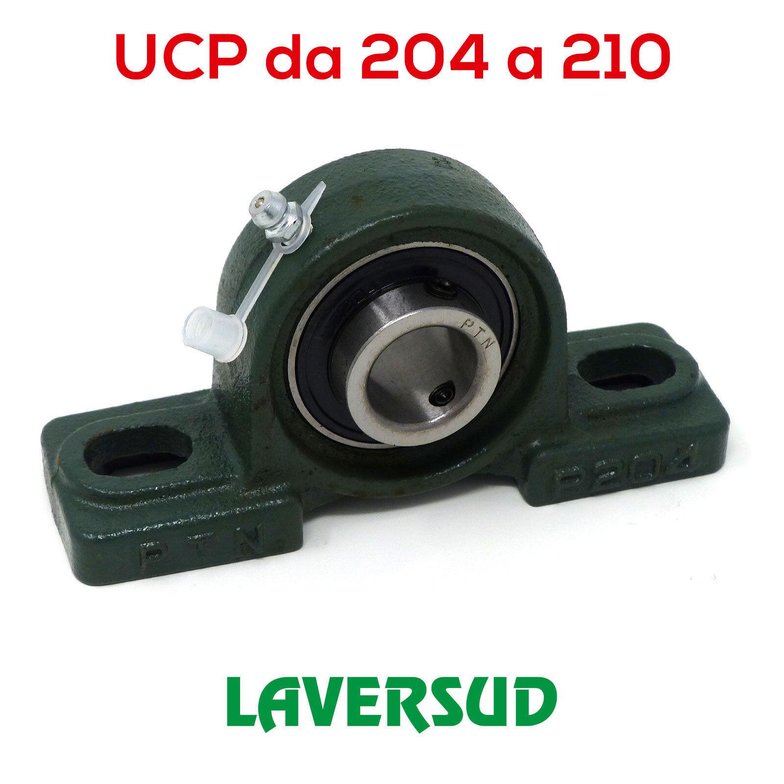 Supporti UCP Autoallineanti con Cuscinetto: da 204 a 210 (varie misure)