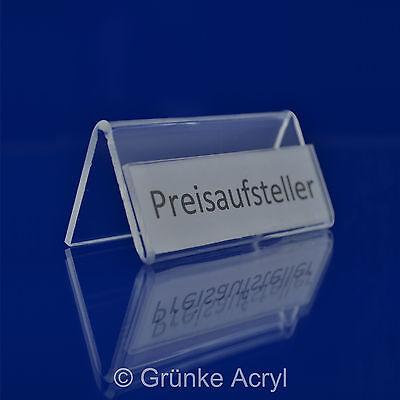 10x Preisaufsteller N Preisschild Display Aufsteller