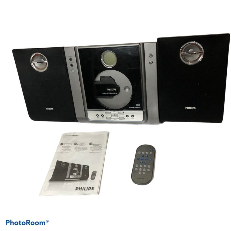 Philips Micro System MC235B/37 CD Player Stereo Detachable Speakers WITH REMOTE