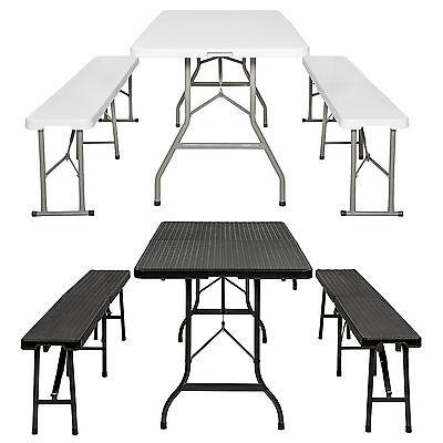 Tavolo pieghevole da campeggio set tavoli panche giardino picnic barbecue