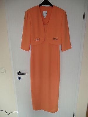 Standesamtkleid Kostüm Brautkleid Hochzeit Joseph Ribkoff orange Gr. 38/40