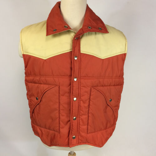 Vintage 70s 80s Color Block Flag Ski Boating Sailing Winter Vest Coat Jacket XL