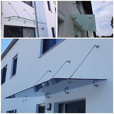 Glasvordach Edelstahl Vordach Türvordach Überdachung Haustür VSG 13