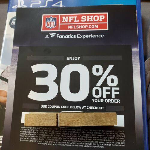 NFL Shop 30 Off Discount Code Valid Until 8/31/2022 - $12.50