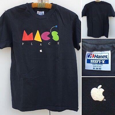 Vintage MACS PLACE T-Shirt Apple Macintosh 80s 90s 1980s M 38-40