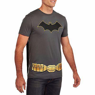 Batman shirt Mens medium tshirt costume with removable cape new 46 48 bX4 (Superhero T Shirts With Cape)