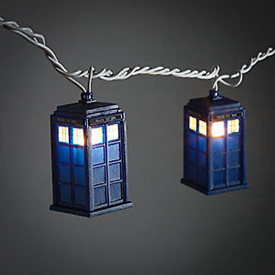 Doctor Who TARDIS Christmas 9 Foot Long String Lights