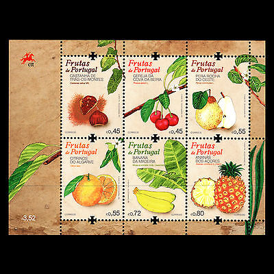 PORTUGAL 2015 - PORTUGUESE FRUITS FOOT BANANA PEARS S/S - MNH