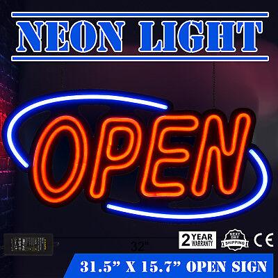 Led Open Sign Rectangular Hang Waterproof Neon Light Outdoor Business Sign Pvc H