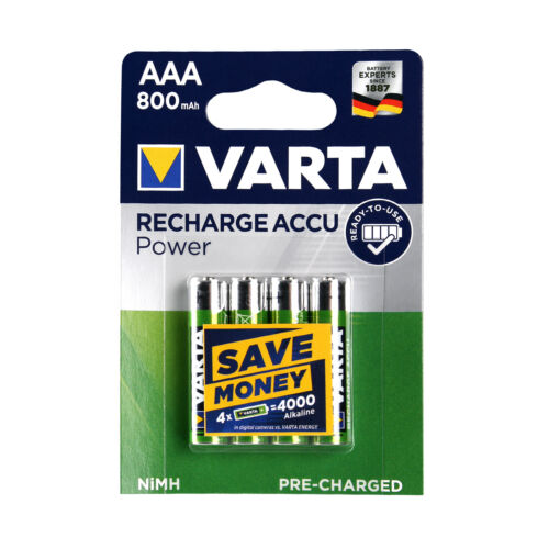 4x Akku AAA Micro Varta Rechargeable Accu 800 mAh NiMH Ready2Use HR03 4 Stück