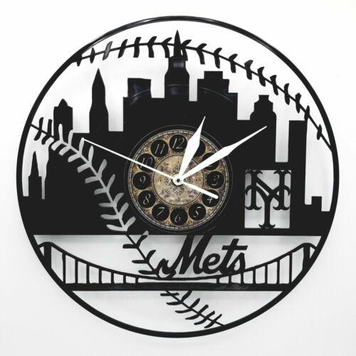 NEW YORK METS VINYL RECORD CLOCK          METS FAN CLOCKS