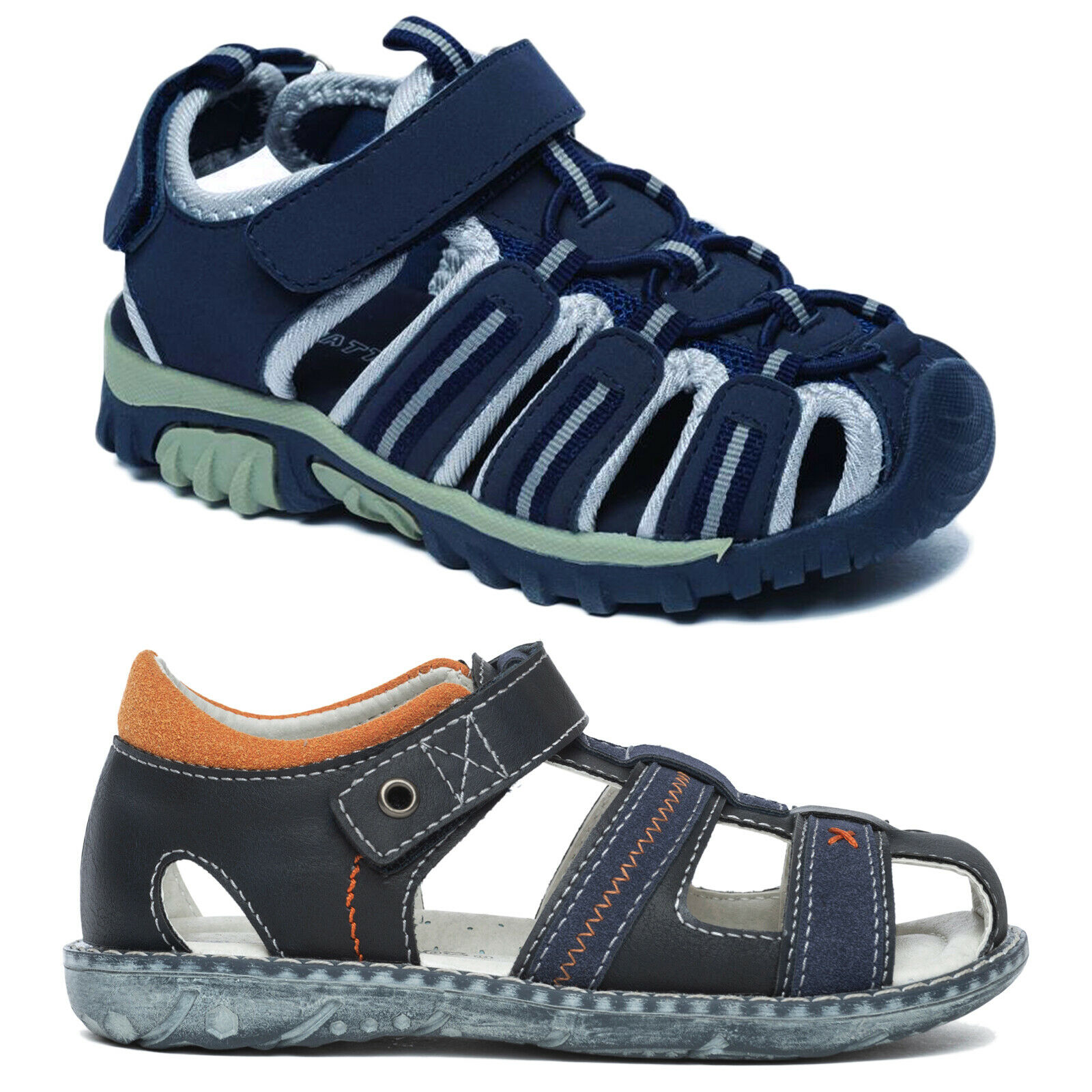 BOYS KIDS CASUAL SUMMER SANDAL SPORTS OUTDOOR CHILDREN WALKING TOUCH STRAP SHOES