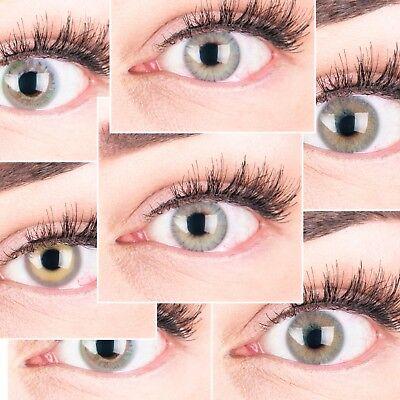 PREMIUM Farbige Kontaktlinsen aus Silikon Hydrogel SUPER NATÜRLICH GLAMLENS grau