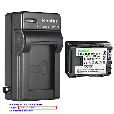 Kastar Battery Wall Charger for Canon BP-808 CG-800 & Canon FS300 Camcorder