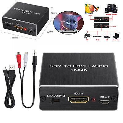 HDMI auf HDMI+Audio SPDIF 4Kx2K Extractor Splitter 5.1CH 2CH 3.5mm Audio Output Kx Audio