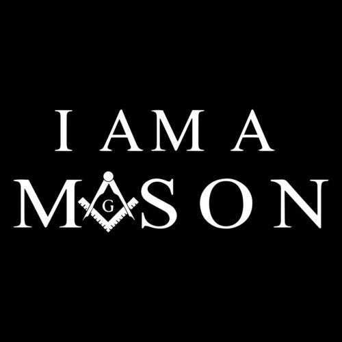 I Am a Mason Square & Compass Masonic Vinyl Decal - White 6 Inch