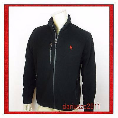 $125 POLO RALPH LAUREN MEN'S JACKET COAT FLEECE  SIZE LARGE BLACK
