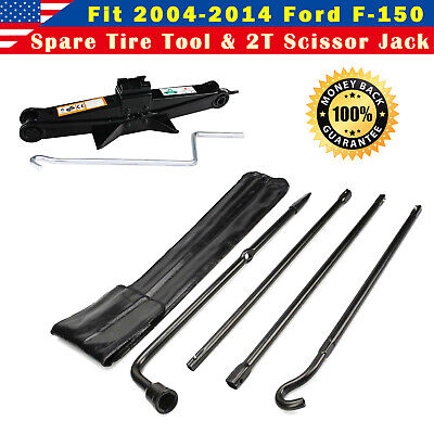 For Ford F-150 2013 2014 Steel Lug Wrench Tool & Spare Tire Scissor Jack Kit