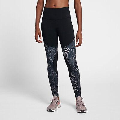Nike Women's Dri-Power Flutter Training Tights Black/Smokey Mauve (M) 893855 453