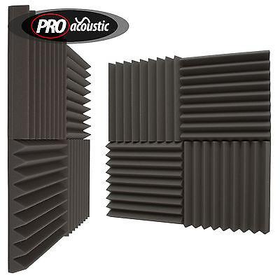 """24x AFW305 Pro Acoustic Foam Wedge Tiles.   12"""" 305mm Studio Sound RoomTreatment"""
