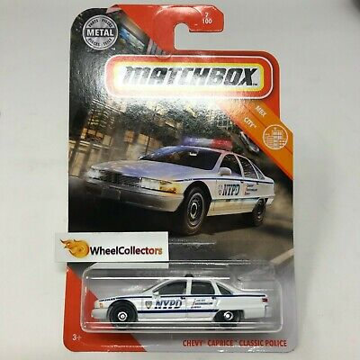 Chevy Caprice Classic * POLICE NYPD White * 2020 Matchbox Case S