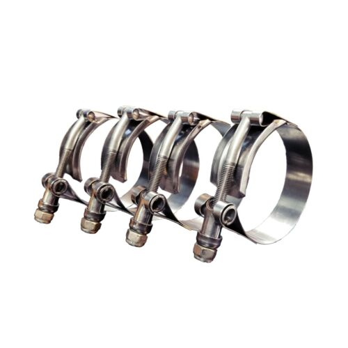 """Banjo TC-287 - 2"""" T-Bolt Hose Clamp Heavy Duty Stainless Steel Clamp Pack of 4"""