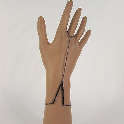 Classic Women V Shape Bracelet Fashion Jewelry Chain Slave Ring Gold Black Color Classic Gold Ring Bracelet