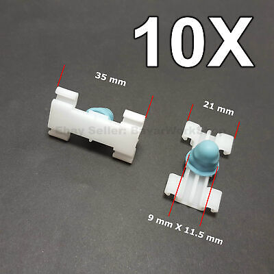 10X Door Fender Moulding Clips Retainers with Rubber Caps for BMW 3' E46 97-05