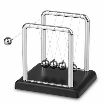 Newtons Cradle Steel Balance Balls Physics Science Pendulum Desk Toy Decor Fast